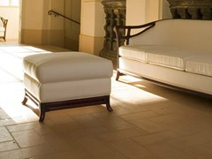 - Upholstered rattan pouf IRIS | Pouf - Dolcefarniente by DFN