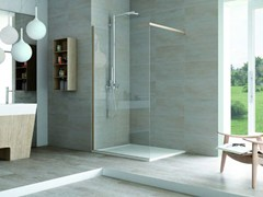 - Corner glass shower cabin with tray MATERIA SA1 - MEGIUS