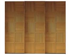 - Cherry wood wardrobe with sliding doors SCACCHI | Wardrobe with sliding doors - Morelato