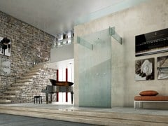 - Glass shower cabin ICONA SEPARÈ WALL - MEGIUS