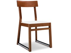 - Sled base beech chair ITALIA 439 A - Palma