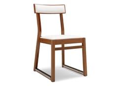 - Sled base beech chair ITALIA 439 B - Palma