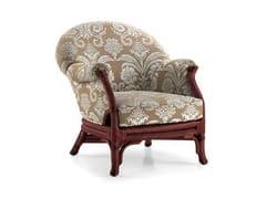 - Upholstered rattan armchair SOPHIE | Armchair - Dolcefarniente by DFN