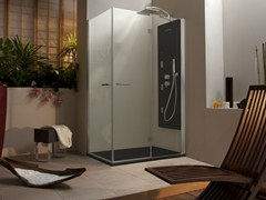 - Corner rectangular shower cabin with hinged door WELLDREAM | Rectangular shower cabin - MEGIUS