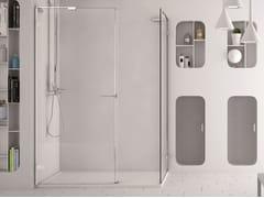 - Corner glass shower cabin SOFTGLASS FS1+FS2 - MEGIUS