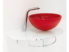 - Wall-mounted crystal washbasin with towel rail UNIK 9 - LASA IDEA