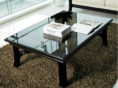 - Low rattan coffee table for living room ARTÙ/N | Low coffee table - Dolcefarniente by DFN