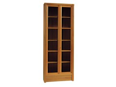 - Modular wood and glass bookcase BIBLIOTECA | Modular bookcase - Morelato