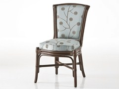 - Upholstered rattan chair OLYMPIA | Chair - Dolcefarniente by DFN