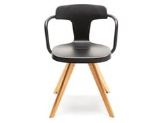 - Stainless steel and wood chair T14 | Wooden chair - Tolix Steel Design
