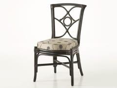 - Upholstered rattan chair ORTENSIA | Chair - Dolcefarniente by DFN