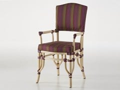 - Upholstered rattan chair with armrests DORIAN | Chair with armrests - Dolcefarniente by DFN