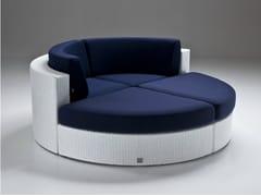 - Round resin garden sofa BAHIA | Round sofa - Dolcefarniente by DFN