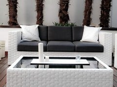 - 3 seater resin garden sofa BAHIA | 3 seater sofa - Dolcefarniente by DFN