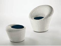 - Round resin garden pouf MARATEA | Garden pouf - Dolcefarniente by DFN