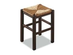 - Low beech stool RUSTICA 425 Z - Palma
