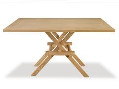 - Square oak table LEONARDO - Morelato