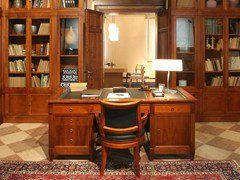 - Wooden writing desk with drawers DIRETTORIO | Writing desk - Morelato