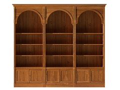 - Sectional modular cherry wood bookcase DIRETTORIO | Modular bookcase - Morelato