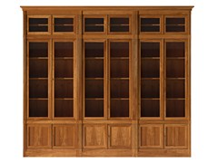 - Sectional modular cherry wood bookcase DIRETTORIO | Cherry wood bookcase - Morelato