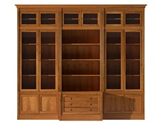 - Sectional modular cherry wood bookcase DIRETTORIO | Sectional bookcase - Morelato