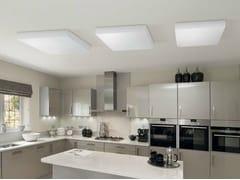 - Fluorescent PMMA ceiling light CUBO FLAT 500   Ceiling light - Lombardo