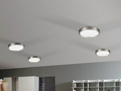 - LED etched glass ceiling light AREO FLAT 350 | Ceiling light - Lombardo