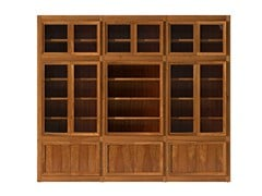 - Sectional cherry wood bookcase MASCHERA | Cherry wood bookcase - Morelato