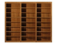 - Open sectional cherry wood bookcase MASCHERA | Open bookcase - Morelato