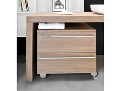 - Low bathroom cabinet with drawers with casters MARIPOSA 48 | Bathroom cabinet - LASA IDEA