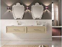 - Double vanity unit with mirror CHARME 5 - BLEU PROVENCE