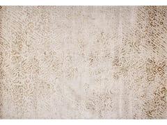 - Handmade rectangular rug JAMUNA PLATINE - EDITION BOUGAINVILLE