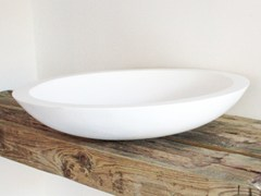 - Countertop round Solid Surface® washbasin COCOON BOWL 1.2 - COCOON