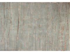 - Handmade rectangular custom rug NAZCA AQUA - EDITION BOUGAINVILLE