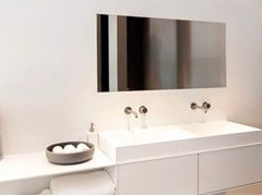 - Single Solid Surface® washbasin with integrated countertop COCOON CUSTOM 50 - COCOON