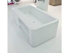 - Freestanding rectangular bathtub UNOPUNTOZERO | Freestanding bathtub - LASA IDEA