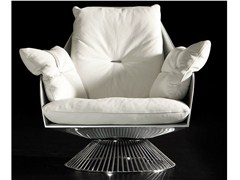 - Design high-back swivel leather armchair GLOSS - ITALY DREAM DESIGN - Kallisté