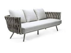 - 3 seater garden sofa TOSCA | 3 seater sofa - TRIBÙ