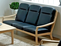 - 3 seater wooden sofa 1260HK | 3 seater sofa - Dyrlund