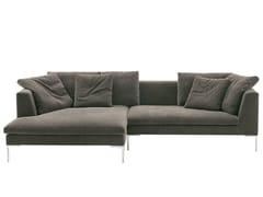 - Corner fabric sofa CHARLES LARGE | Corner sofa - B&B Italia