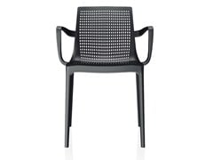 - Stackable plastic chair with armrests TWIN | Chair with armrests - Brunner