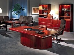 - Rosewood executive desk SUPER SKYLINE | Executive desk - Dyrlund