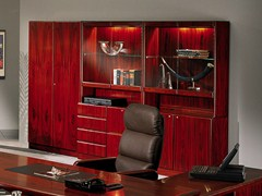 - Tall cherry wood office storage unit COMMODORE | Cherry wood office storage unit - Dyrlund