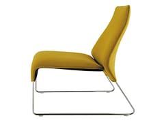 - Sled base upholstered fabric armchair LAZY '05 | Armchair - B&B Italia