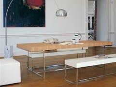 - Rectangular wooden table ATHOS - B&B Italia