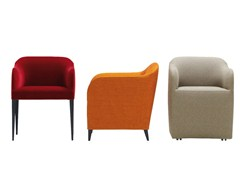 - Fabric chair with armrests LUCA SOFT - ROSET ITALIA