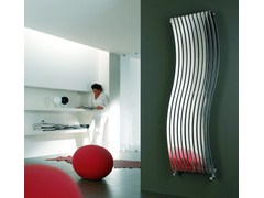 Wall-mounted glossy steel decorative radiator LOLA VT - CORDIVARI