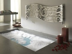 Stainless steel decorative radiator LOLA DECOR - CORDIVARI