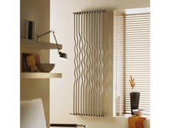Brushed-finish decorative radiator RIO | Brushed steel decorative radiator - CORDIVARI