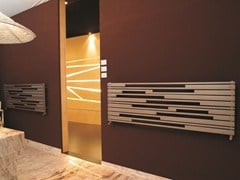 Brushed steel decorative radiator STRADIVARI OR - CORDIVARI